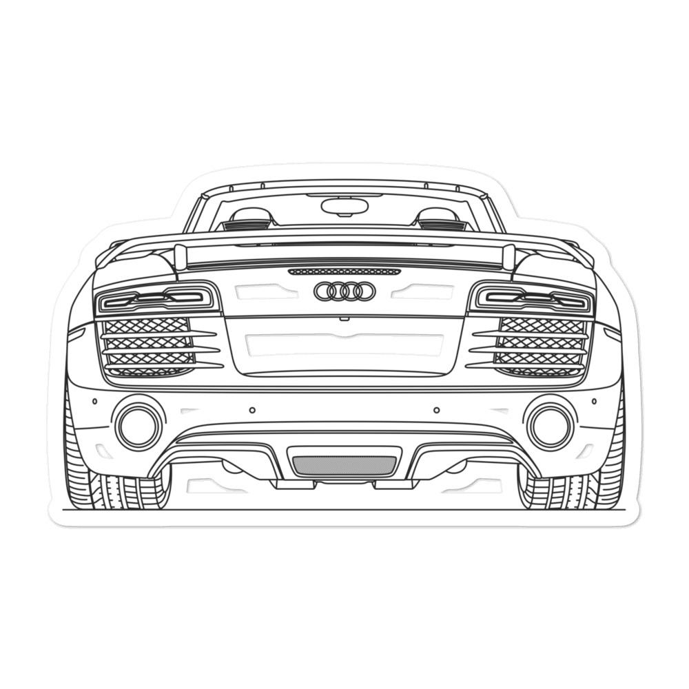 Audi R8 I Rear Sticker - Artlines Design