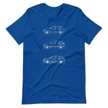 Load image into Gallery viewer, Porsche Cayenne Evolution T-shirt True Royal - Artlines Design