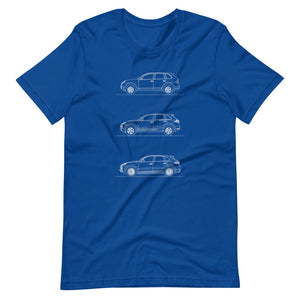 Porsche Cayenne Evolution T-shirt True Royal - Artlines Design