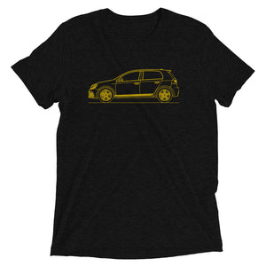 Volkswagen Golf VI R Yellow T-shirt