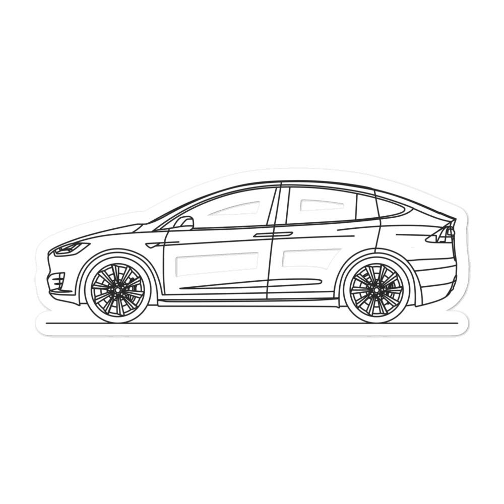 Tesla Model X Sticker - Artlines Design