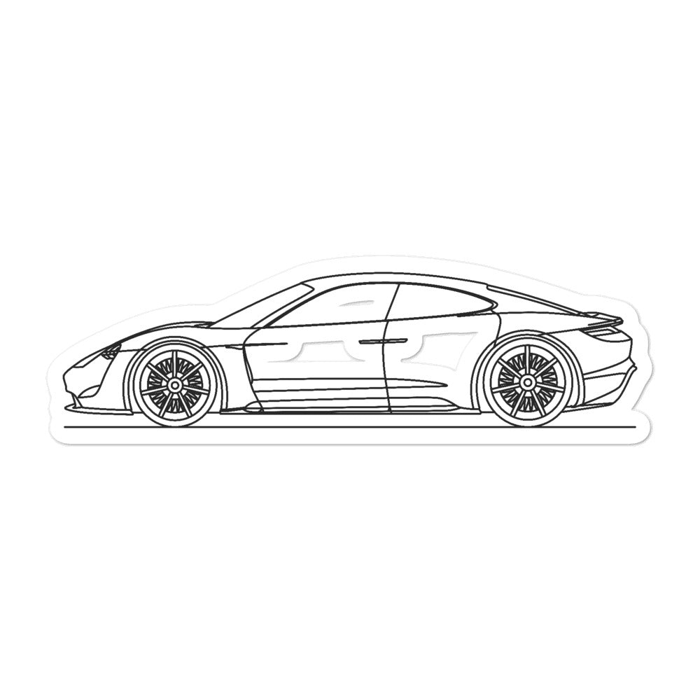 Porsche Mission E Sticker