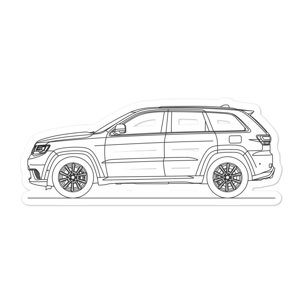 Jeep Grand Cherokee Trackhawk Sticker