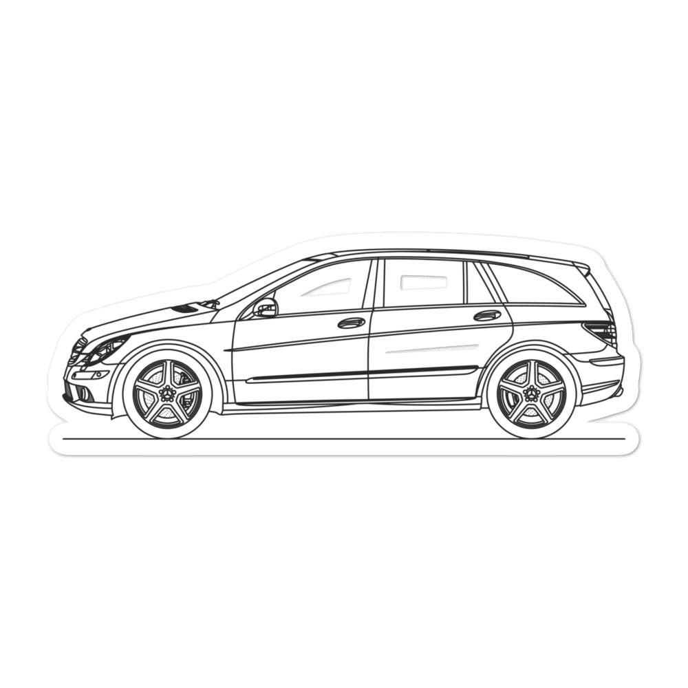Mercedes-Benz W251 R63 AMG Sticker - Artlines Design