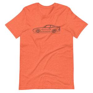 Porsche 944 Turbo S T-shirt Heather Orange - Artlines Design