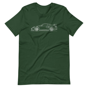 Porsche 911 991.2 GT3 RS T-shirt Forest