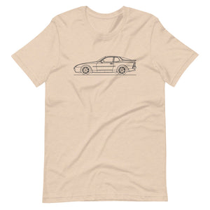 Porsche 944 Turbo S T-shirt Heather Dust - Artlines Design
