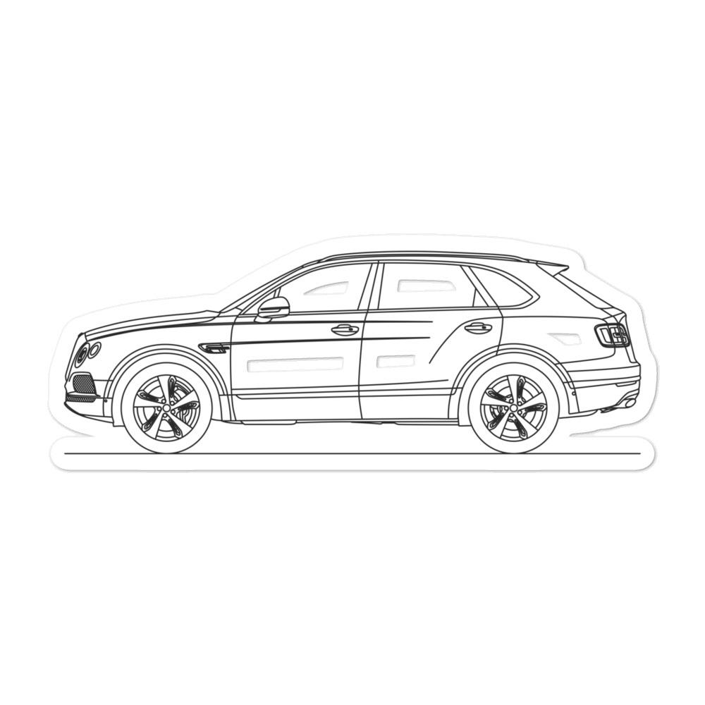 Bentley Bentayga Sticker - Artlines Design
