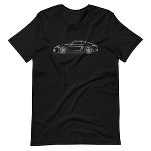 Porsche Cayman S 718 T-shirt Black - Artlines Design