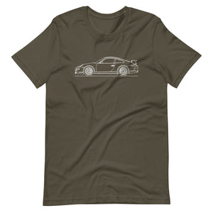 Porsche 911 997.1 GT3 T-shirt Army - Artlines Design