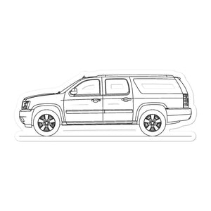 Chevrolet Suburban GMT900 Sticker