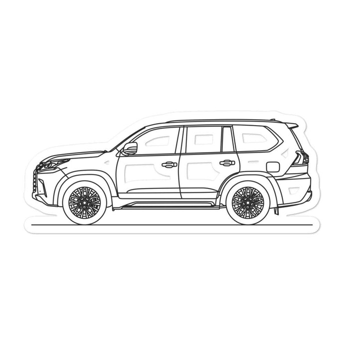 Lexus LX 570 J200 Sticker - Artlines Design