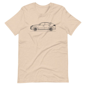 Porsche Cayenne E3 Turbo S Coupé T-shirt Heather Dust - Artlines Design