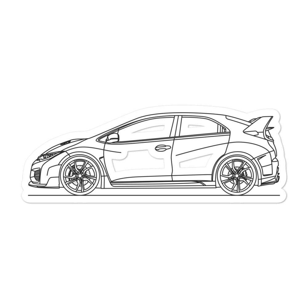 Honda Civic FK2 Type R Sticker - Artlines Design