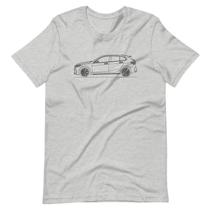 BMW F40 M135i T-shirt Athletic Heather - Artlines Design