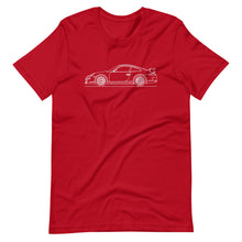 Load image into Gallery viewer, Porsche 911 997.1 GT3 T-shirt Red - Artlines Design