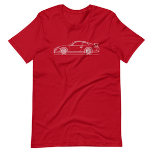 Porsche 911 997.1 GT3 T-shirt Red - Artlines Design