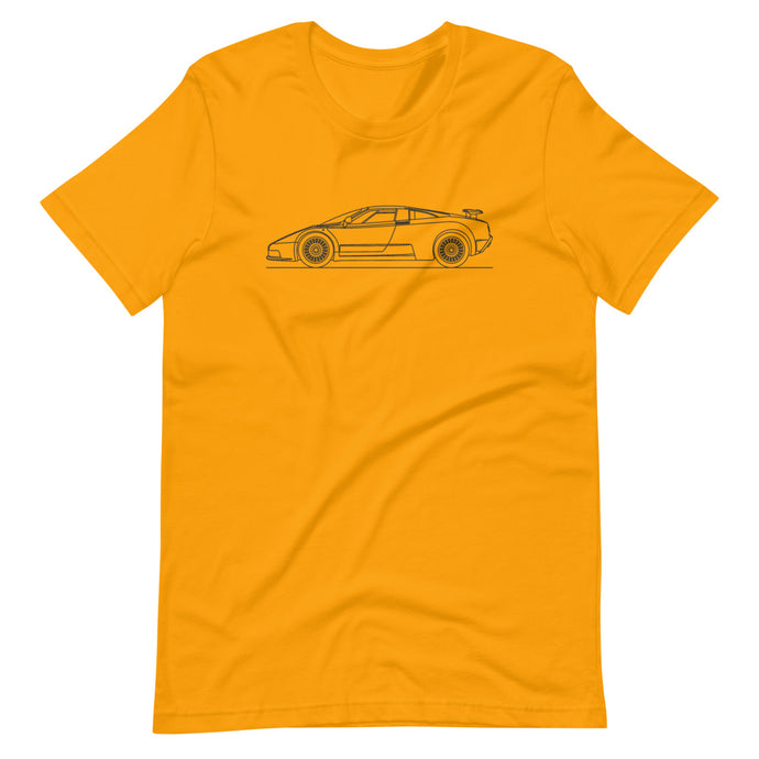 Bugatti EB110 T-shirt Gold - Artlines Design