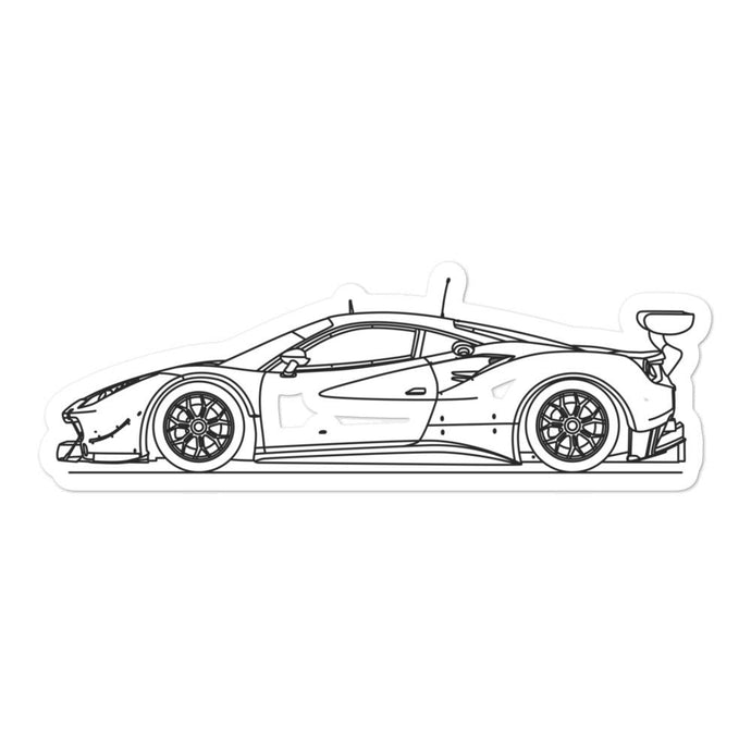 Ferrari 488 GT3 Sticker