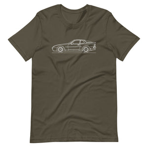 Porsche 944 Turbo S T-shirt Army - Artlines Design