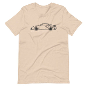 Porsche 911 991.1 Turbo T-shirt Heather Dust