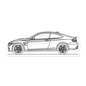 BMW F82 M4 Sticker - Artlines Design