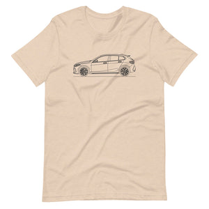 BMW F40 M135i T-shirt Heather Dust - Artlines Design