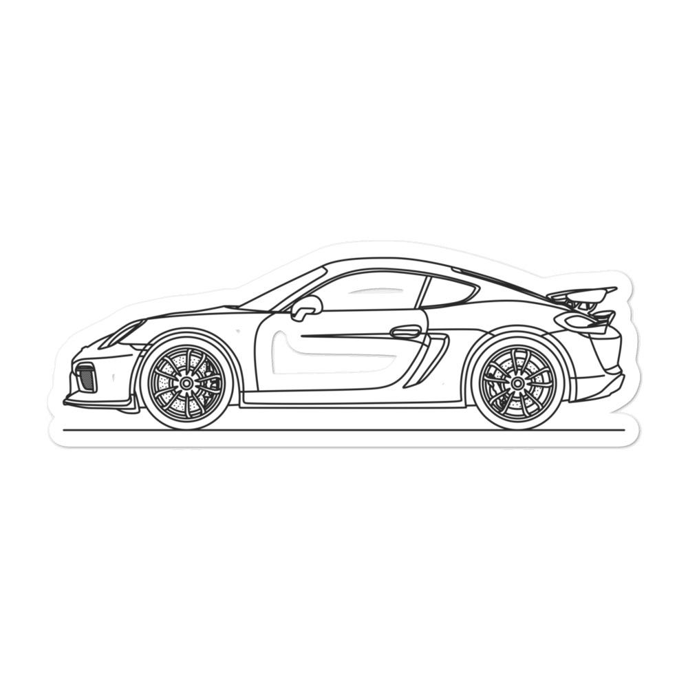 Porsche Cayman GT4 981 Sticker - Artlines Design