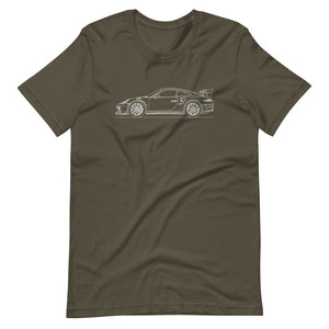 Porsche 911 991.2 GT3 RS T-shirt Army