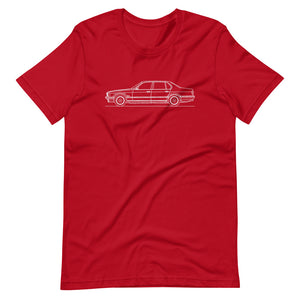 BMW E32 750iL T-shirt Red - Artlines Design