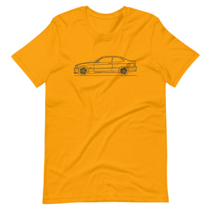 BMW E36 M3 T-shirt Gold - Artlines Design