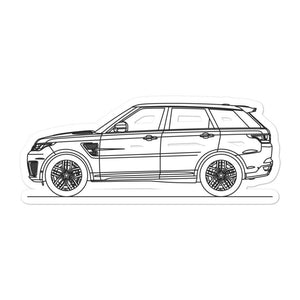 Land Rover Range Rover Sport SVR Sticker - Artlines Design