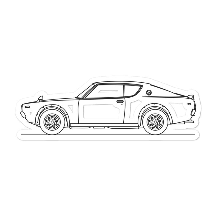 Nissan KPGC110 GT-R Sticker - Artlines Design
