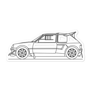 Peugeot 205 T16 Sticker - Artlines Design