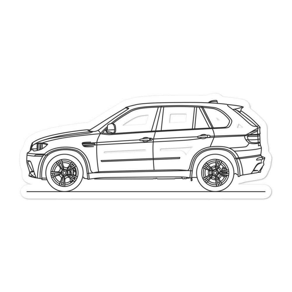 BMW E70 X5M Sticker - Artlines Design