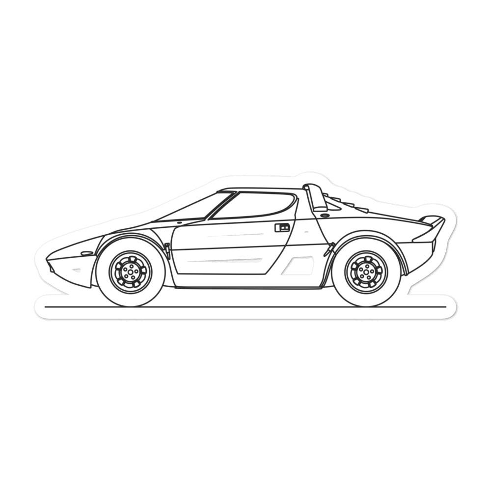 Lancia Stratos Sticker