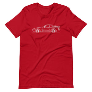Porsche 944 Turbo S T-shirt Red - Artlines Design