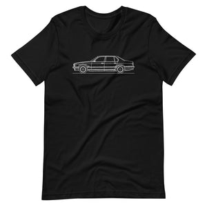 BMW E32 750iL T-shirt Black - Artlines Design