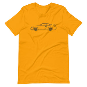 Porsche 911 996 GT3 RS T-shirt Gold - Artlines Design