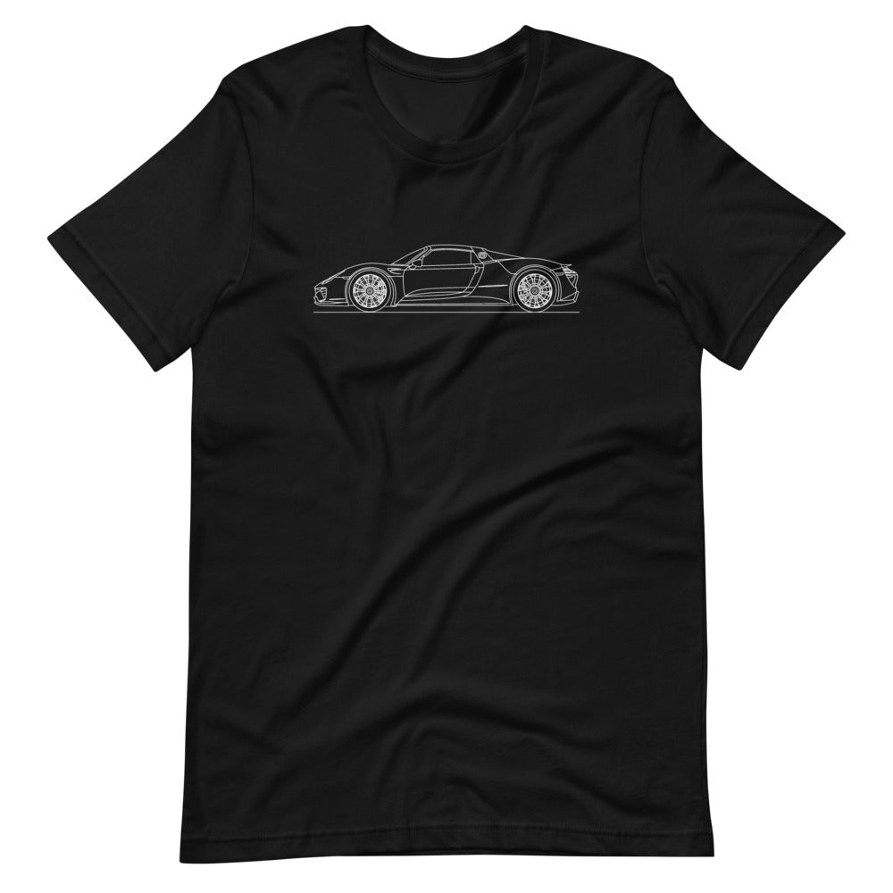 Porsche 918 Spyder T-shirt Black - Artlines Design