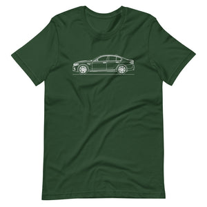 BMW F90 M5 T-shirt Forest - Artlines Design