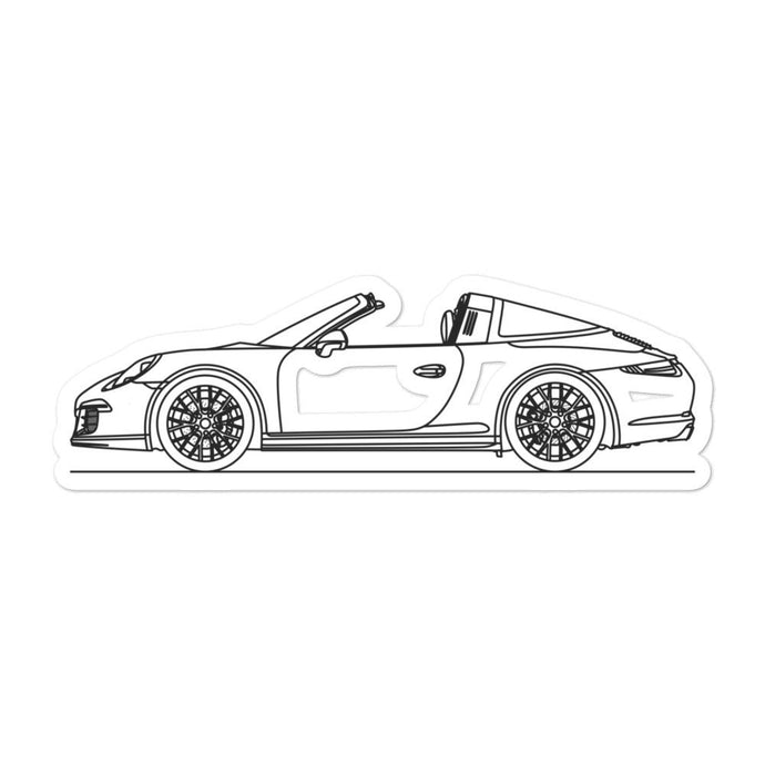 Porsche 911 991.1 GTS Targa Sticker - Artlines Design