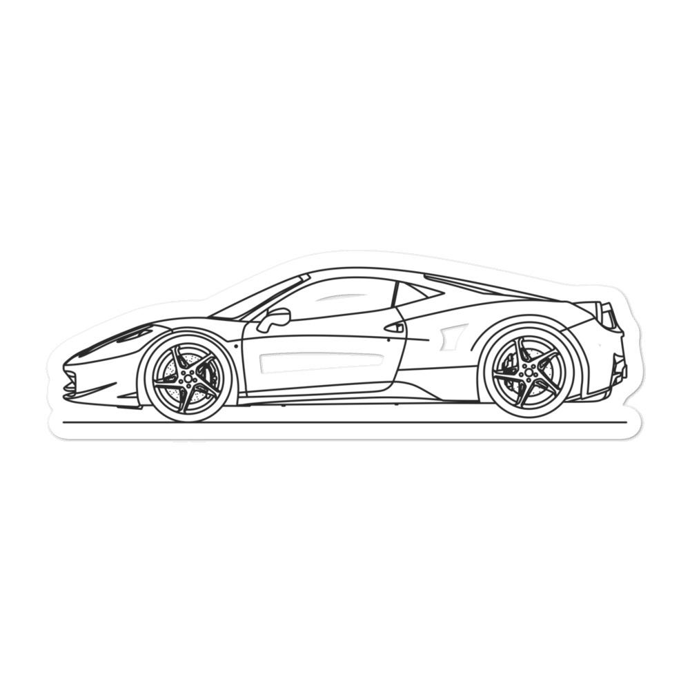 Ferrari 458 Italia Sticker