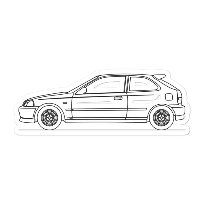 Honda Civic EK9 Type R Sticker - Artlines Design