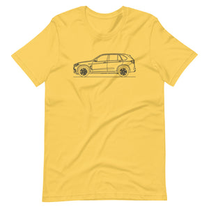 BMW F85 X5 M T-shirt Yellow - Artlines Design