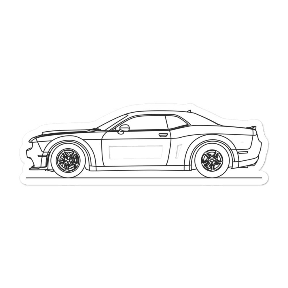 Dodge Challenger IV SRT Demon Sticker - Artlines Design