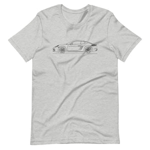 Porsche Cayman S 718 T-shirt Athletic Heather - Artlines Design