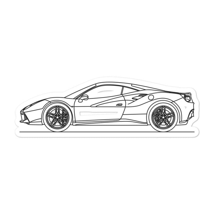 Ferrari 488 GTB Sticker - Artlines Design