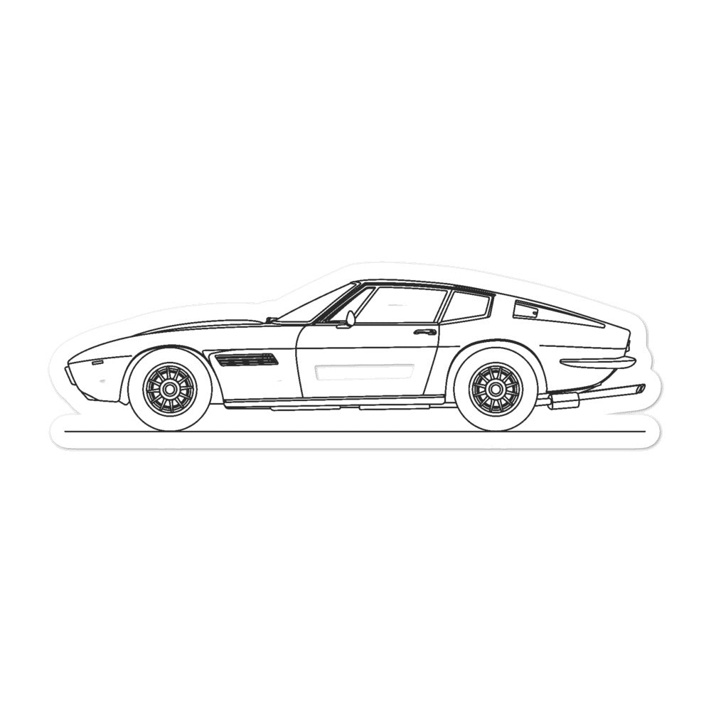 Maserati Ghibli AM115 Sticker
