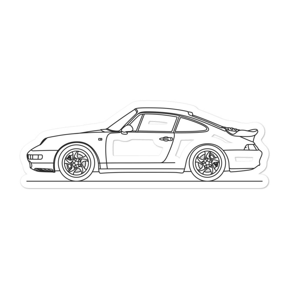 Porsche 911 993 Turbo Sticker - Artlines Design